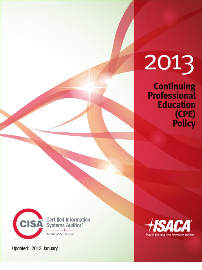 Cisa Cpe English Professional Development Audit