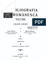 Bibliografia Romaneasca Veche, 1, 1508-1716