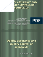 Qa Qc of Semisolid s