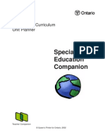 The Ontario Curriculum Unit Planner Special Education Companion 2002