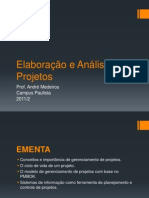 20112+5 6s+Elaboracao+e+Analise+de+Projetos+(Slides)