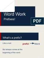 Word Work- Latin Prefixes