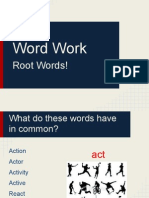 Word Work- Latin Roots