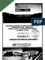 Vol 7 - Análisis Precios Unitarios