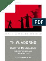 Theodor W Adorno Escritos Musicales IV