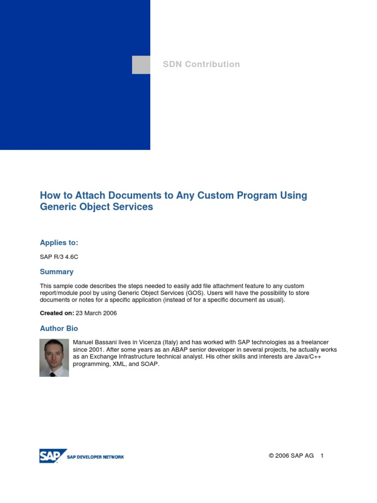 How to Attach Documents to Any Custom Program Using Generic