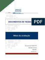 MITOS DA AVALIAÇÃO (DOC. DE TRABALHO) [IPAD - 2011]