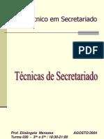 TÉCNICAS DE SECRETARIADO