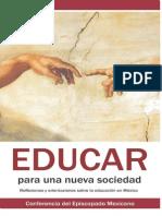 Educar Para Una Nueva Sociedad-EpiscopadoMexicano