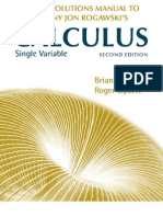 Calculus 2nd Edition - Single Variable Solutions