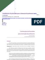 Contribuições da psicanálise para a formação de professores (Joao Batista Martins) - Academia