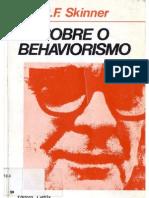 SKINNER, B. F. Sobre o Behaviorismo