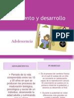 Crecimiento y Desarrollo ADOLECENCIA