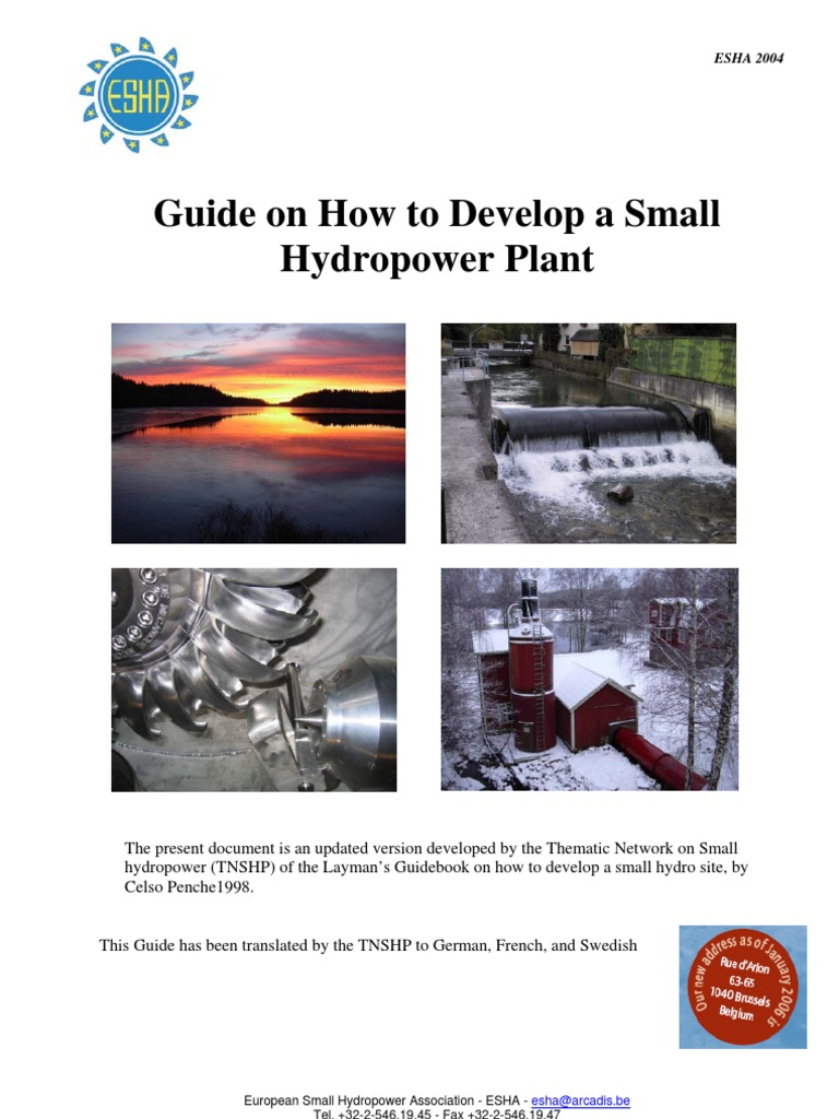 Guide on How to Develop a Small Hydropower Plant (ESHA 2004) | Reynolds  Number | Hydroelectricity