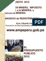 Gravamen Minero, Impuesto Especial a La Mineria, y Regalia Mineria
