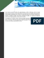 Vacancy Report March 2013