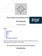 Greek Esoteric Doctrine of Elements