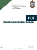 Seleccion Modelos Termodinamicos