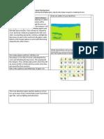 KODU Planning Sheet My Game