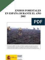 Incendio s Forest a Les 2005