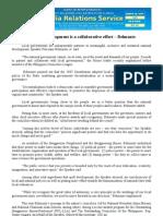 National development is a collaborative effort – Belmonte