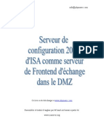 Serveur Configuration Isa 2004 Exchenger Server