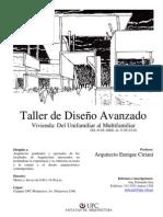 UPC TALLER DE DISEÑO AVANZADO 2013