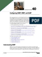 Configuring HSRP VRRP GLBP