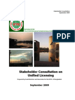 Consultation Paper for Unified License Regime