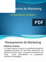 Planejamento de Marketing Fase 3 Marca