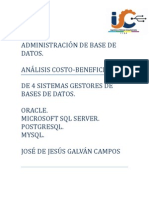 Analisis Costo Beneficio.