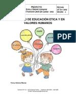Proyecto de Etica y Valores Colegio Francisco Jose de Caldas 2012