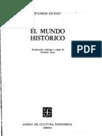 Dilthey Wilhelm - El Mundo Historico