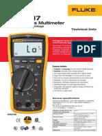 Fluke 117 Multimeter Technical Data.pdf