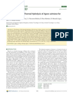 Kinetic Study of the Thermal Hydrolysis of Agave Salmiana for Mezcal Production