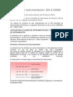 Normas de instrumentación ISA y SAMA