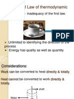 Second Law of Thermodynamic
