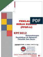 Penilaian Kerja Kursus Kpf 3012 (Ppgpjj) Sem 2 Sesi 1213