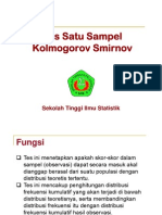 Uji Kolmogorov Smirnov [Compatibility Mode]