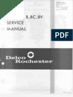 Rochester B BC BV Service Manual