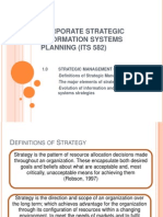 CORPORATE STRATEGIC INFORMATION SYSTEMS PLANNING