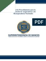 Procedimientos para la Constitución de Aseguradoras o de Reaseguradoras Nacionales