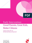 Early Intervention - Good Parents, Great Kids, Better Citizens