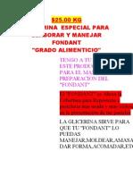 Glicerina Specification