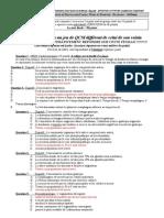 Jeu 3 UPEC S4 Examen Semestriel Cardio-Neuro-Digestif Aout 2011