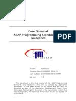 Abap Programming Standards