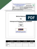 2.Underground Drainage Piping (Method Statement)