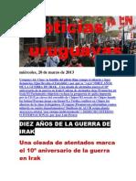 Noticias Uruguayas miércoles 20 de marzo del 2013