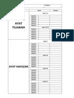 Borang Pbs Fail Ayat Tilawah n Hafazan