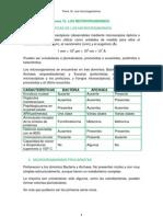 Tema 16. Los Microorganismos.